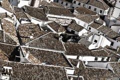 Испанский город Grazalema стоковые фотографии rf