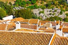 Испанский город Grazalema стоковые изображения