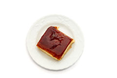 Испанский десерт leches tres на чисто белой предпосылке Стоковая Фотография RF