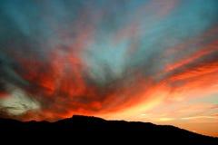 испанский заход солнца Стоковые Изображения