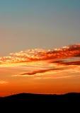 испанский заход солнца Стоковое Изображение RF