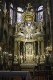 Испанский интерьер собора Стоковые Фото