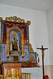 испанский интерьер церков Стоковая Фотография RF