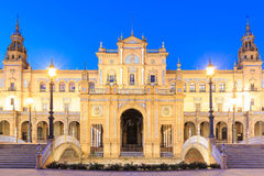 Испанский квадрат в Севилье, Андалусии, Испании Стоковое Изображение