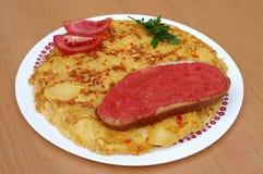 Испанский омлет или tortilla стоковые фотографии rf