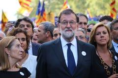 Испанский премьер-министр Mariano Rajoy на выраженности против терроризма Стоковые Изображения RF