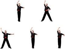 Испанский танцор в различных представлениях на белизну Стоковое Фото
