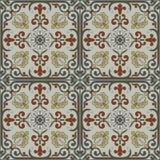 Испанский традиционный орнамент, среднеземноморская безшовная картина, дизайн плитки Стоковое фото RF