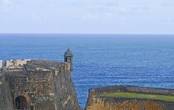 Испанский форт Garita - столб взгляда-вне Стоковые Изображения