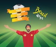 Испанский футбольный болельщик Стоковые Изображения