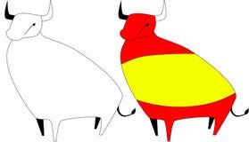 испанский язык быка Стоковые Изображения