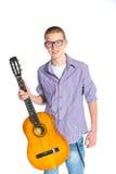 испанский язык гитары мальчика классический Стоковые Изображения RF