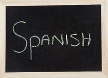испанский язык доски Стоковое Изображение RF