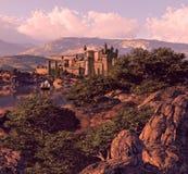 испанский язык ландшафта замока Стоковые Изображения RF