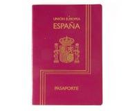 испанский язык пасспорта стоковое изображение
