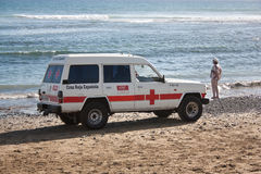 испанский язык патруля пляжа Стоковое Фото