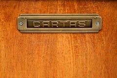 испанский язык письма коробки Стоковая Фотография