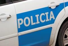 испанский язык полиций Стоковое фото RF