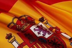 испанский язык флага снятый макросом Стоковое Изображение RF