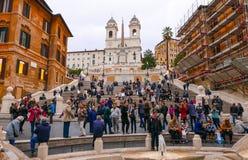 Испанский язык шагает в Рим - занятое место в городе стоковое фото rf