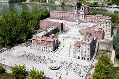 Испанский язык шагает крошечное Рима Италии мини Стоковые Фото