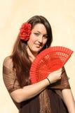 испанский язык flamenco танцора Стоковое Изображение