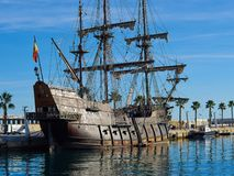 Испанский язык Galleon 16-восемнадцатое Курорт Blanca Косты Аликанте корабля столетия стоковые фотографии rf