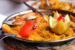 испанский язык paella стоковое изображение rf