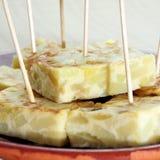 Испанский tortilla de patatas Стоковое Изображение