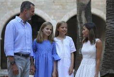 Испанское представление королевской семьи в mallorca на almudaina садовничает Стоковое Изображение RF