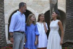 Испанское представление королевской семьи в mallorca Стоковая Фотография RF