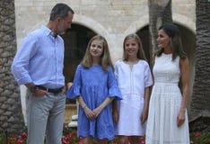 Испанское представление королевской семьи в mallorca Стоковое Изображение RF