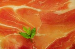 Испанское jamon Макрос стоковое фото rf