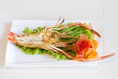 Испаренная креветка реки, кипеть shrimpin реки Стоковое фото RF