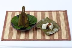 Испаренная помадка обруча муки помяла кокос как Sii Khanom Sai Стоковые Фото
