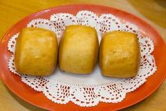 Испаренная плюшка mantou Стоковое фото RF