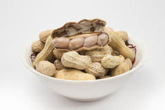 Испаренные арахисы треснули раковину, тайскую местную закуску Стоковое Фото