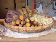 Испаренные бататы и сладкие картофели Стоковое Изображение RF
