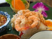 Испаренные морепродукты с рисом, тайским стилем стоковое фото
