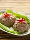 Испаренный китайцем шарик мяса свинины головы льва Стоковые Фото