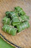 испаренный рис листьев банана glutinous Стоковые Фотографии RF