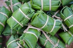 испаренный рис листьев банана glutinous Стоковые Изображения RF