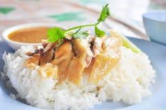 испаренный суп риса цыпленка Стоковое фото RF