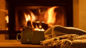 Испаритесь от чашек с горячим какао Стоковые Фотографии RF