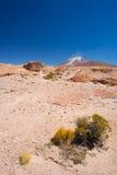Испаряться вулкан на боливийских Андах Стоковая Фотография RF