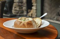 Испаряться густой суп Clam Стоковая Фотография