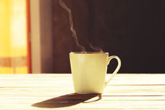 испаряться кофейной чашки горячий Стоковое Фото