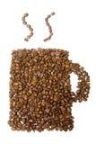 испаряться кружки кофе фасолей Стоковое Фото