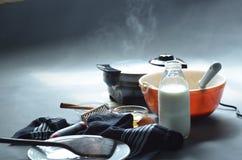 Испаряться утюг waffle делая waffle, шар бэттера Стоковое Фото