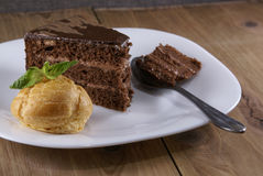 испеките ломтик шоколада Стоковая Фотография